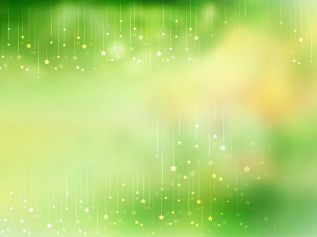 唯美绿色星星PPT背景图片