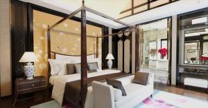 中国风卧室模型效果图