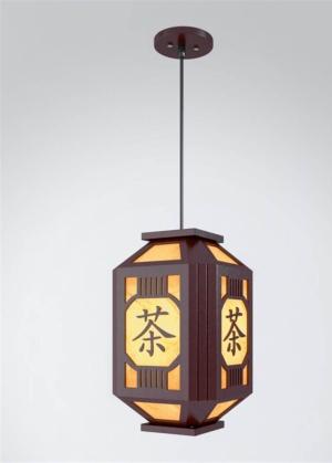 中式茶館吊燈模型設計
