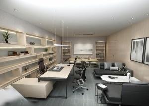 辦公室會客區3D模型設計