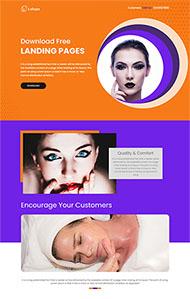 女人美容養生網站HTML5模板