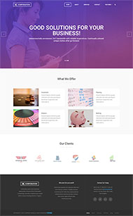 基金公司HTML5網站模板