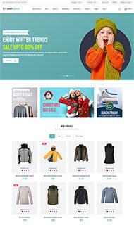 服裝銷售電商網站HTML5模板