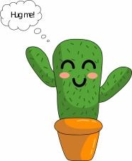 可愛卡通植物盆栽圖片