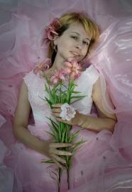 俄羅斯美女婚紗照圖片