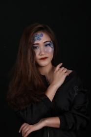 亞洲美女彩妝藝術攝影圖片
