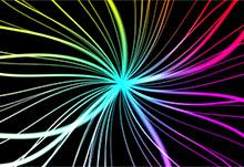 Canvas彩色发光3D线条动画特效