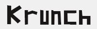 Krunch字體