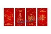 圣誕節卡片矢量設計素材