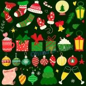 圣誕裝飾矢量背景圖設計