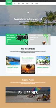 在線旅行服務公司網站模板