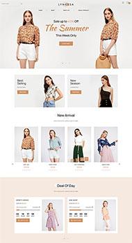 时装店铺电商公司网站模板