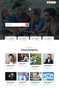 在线课程教育培训网站模板