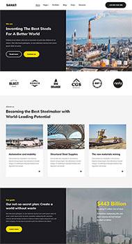HTML5重工業網站模板