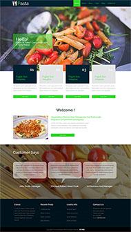 菜譜大全美食制作網站模板
