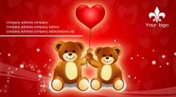 可愛熊名片設計PSD素材