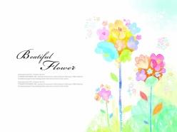 水彩花朵PSD創意設計素材