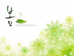 手繪花朵水彩畫PSD分層素材