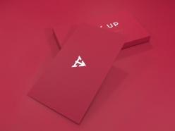 粉色簡潔名片設計PSD