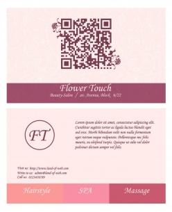 粉色二維碼名片PSD模板