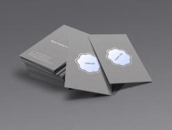 灰色簡約名片矢量模板