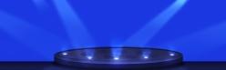 藍色舞臺燈光背景素材