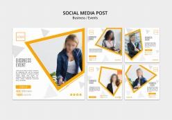 正方形商務宣傳冊排版設計