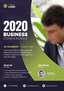 2020年企業商務宣傳單設計