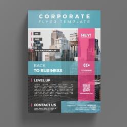 企業商務宣傳單PSD模板