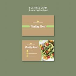 健康有機食物名片模板PSD
