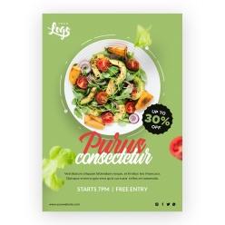 輕食蔬菜沙拉宣傳單設計