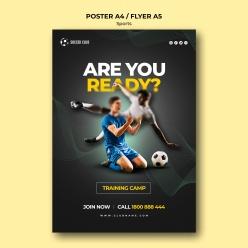 足球運動宣傳單設計