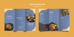 餐飲店三折頁宣傳冊菜單模板