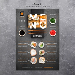 壽司店菜單模板設計