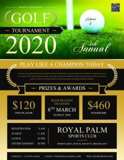 高尔夫球锦标赛宣传单设计