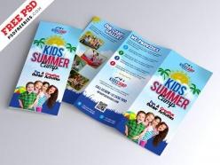 兒童夏令營宣傳折頁模板