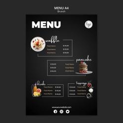 早午餐餐廳菜單設計模板
