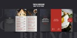 西餐廳折頁菜單PSD模板