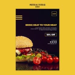 美味漢堡PSD美食宣傳單
