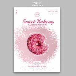 面包店海報PSD分層素材