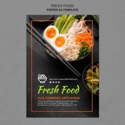 生鲜食品广告模板传单