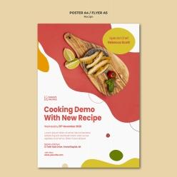 食谱广告海报模板