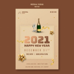 新年概念海報模板