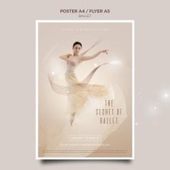 芭蕾舞演出宣傳海報素材