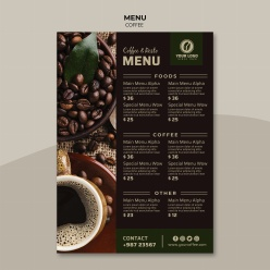 咖啡馆点餐单模板源文件