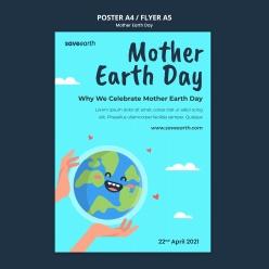 地球母親日廣告海報設計