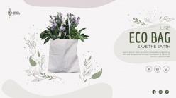 環保袋宣傳橫幅模板設計