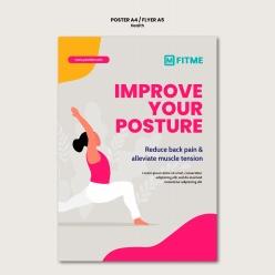 瑜伽運動宣傳單模板