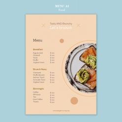 餐廳菜單PSD模板設計