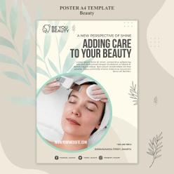 美容護膚廣告宣傳海報